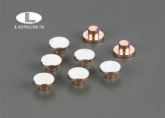 China Round Head Contact Points Three Parts Composite , Sterling Silver Rivet ISO9001 supplier