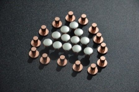 AgCu Silver Plated Electrical Contacts / Silver Plated Copper Contacts For Starters