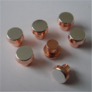 Silver Copper Alloy Bimetal Contact Rivets Round Head With Low Resistance