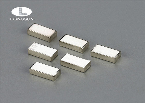 Silver Copper Alloy Tri - Metal Button Contact For  Electric Control Equipment