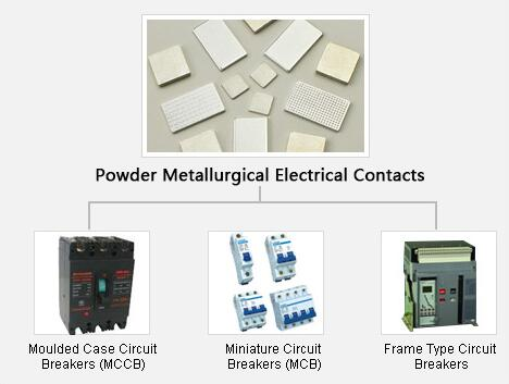 Electrical Silver Contacts AgNi , Powder Metallurgy Products For Connector